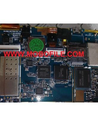 فایل فلش تبلت  چینی  با مشخصه برد ELINK MC706-D2-V3
