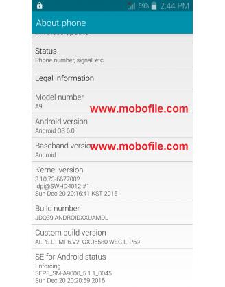 فایل فلش گوشی شرکتی چینی سامسونگ گلکسی a9-2016 با مشخصه ALPS.L1.MP6.V2_GXQ6580.WEG.L_P69